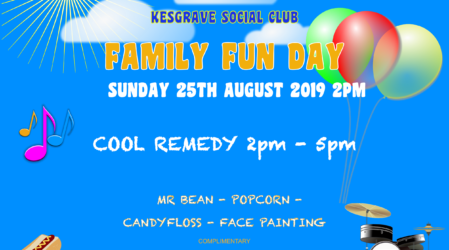 Family Fun Day – Sunday 25th August 2019