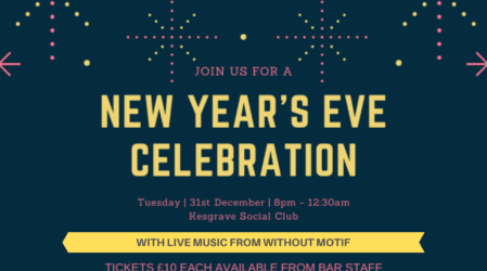 New Years Eve 31/12/2019 with Without Motif – Ticket Event