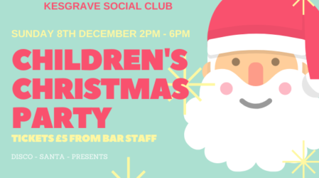 Children's Christmas Party – 08/12/2019 – Ticket Event