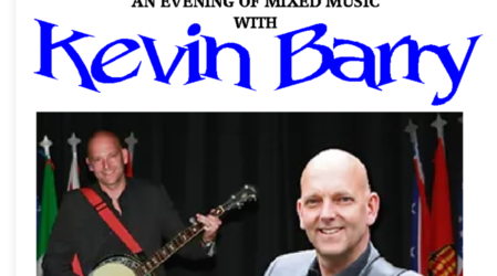 6.30pm Mixed Music with Kevin Barry on12th December 2020