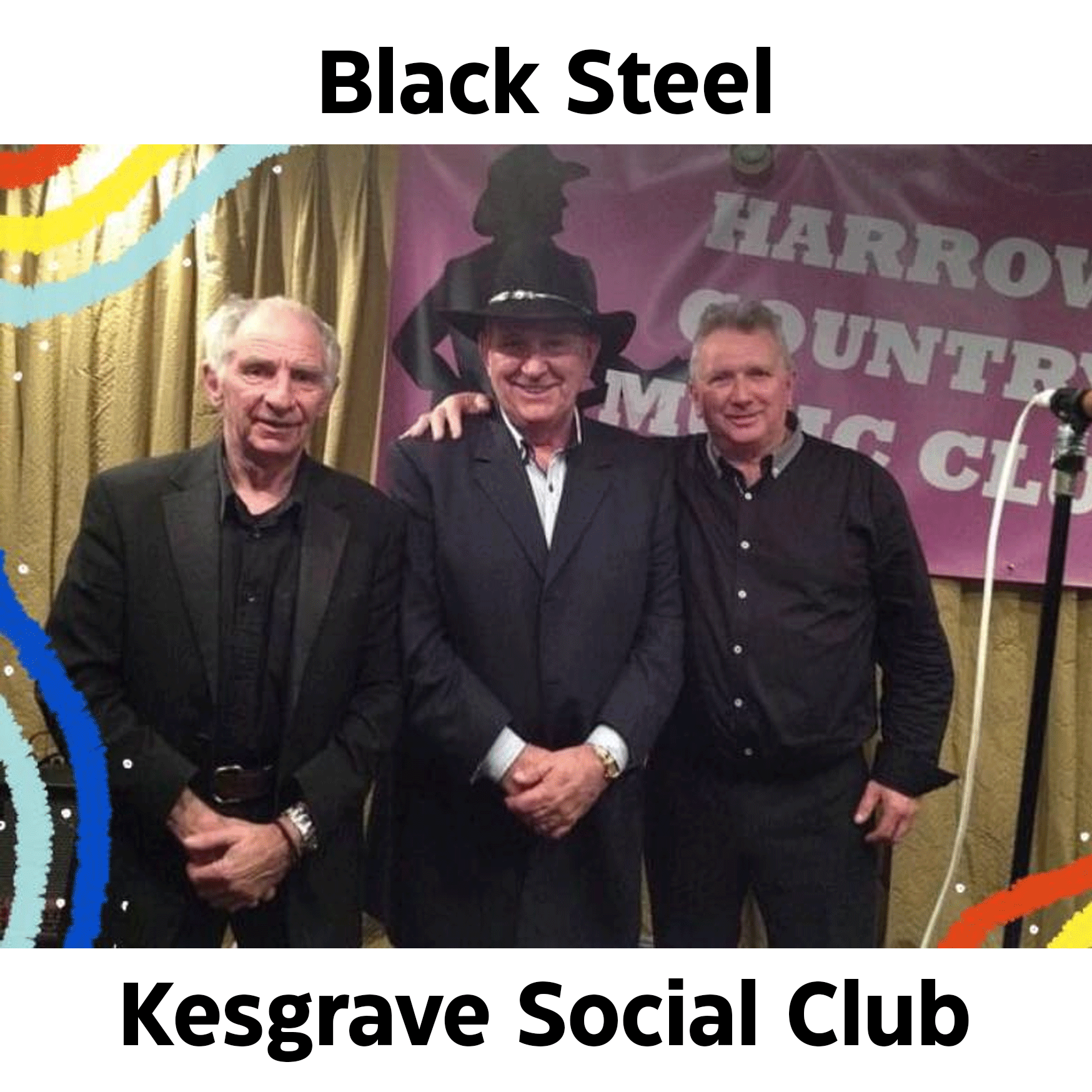 Saturday 14th August – Black Steel Country Music