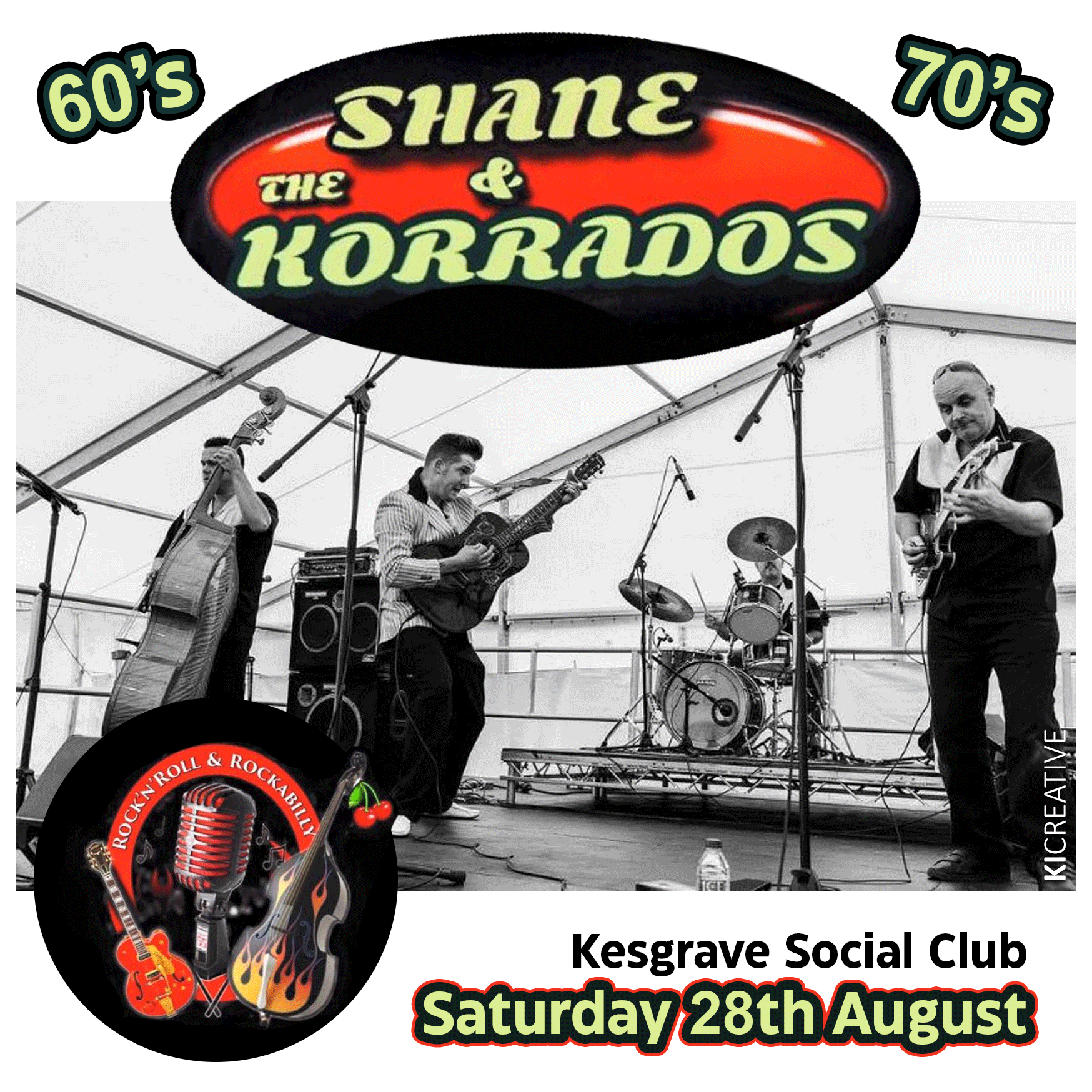 Saturday 28th August – Shane and The Karrados